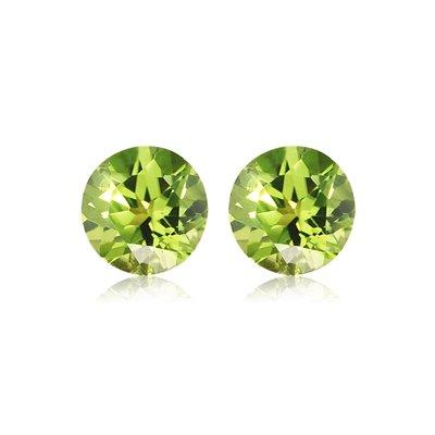 - 0.30-0.40 Cts of 3.5 mm AA Round Peridot ( 2 pcs ) Loose Gemstones
