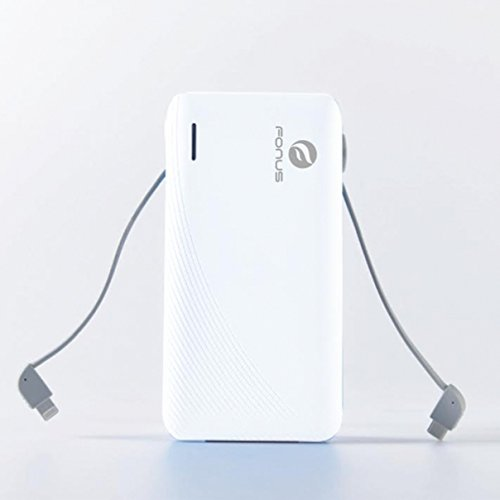 10000mAh particularly sleek USB vitality Bank handheld Battery Charger designed in Cables for iPhone 6 6S Plus 5S 5C SE Samsung Galaxy S7 S6 Edge Edge S5 S4 S3 Galaxy Note 5 4 3 2 LG G2 G3 G4 G5 V10 External Battery Packs