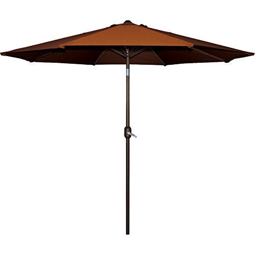 num Umbrella 9 ft. x 9 ft. Terra Cotta ()