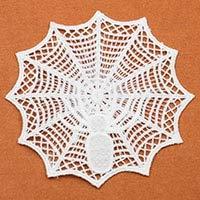 Lace Crafts - 1 Piece Lace Collar Halloween White Spider's Web Venise Lace Applique Trim,Umbrella Pattern Lace Fabric Sewing Supplies Tissu - (Color: White)