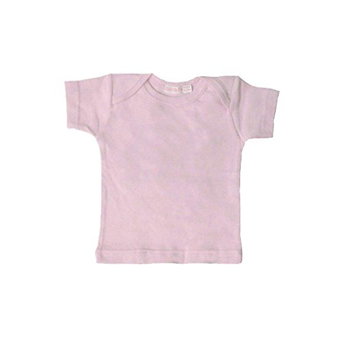 Under the Nile Baby Girls' Organic Short Sleeve Lap Shoulder Tee, Blush, 6-9 Months