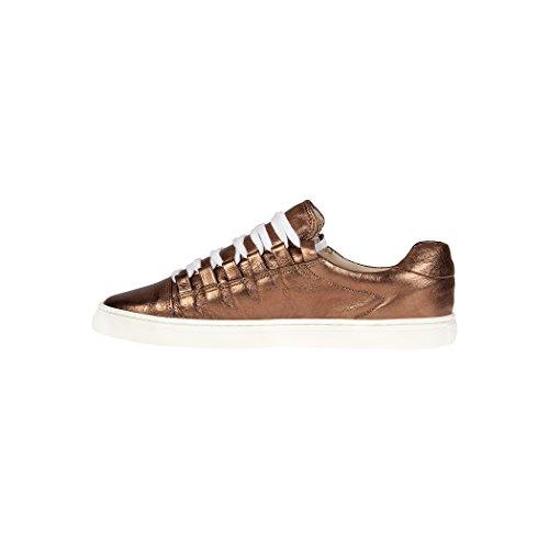 Tedish Sneakers Dames Wandelschoenen Meisje Leder Comfortabele Ongedwongen Lace-up Flats Td004 Orabelle Chataigne Chataigne