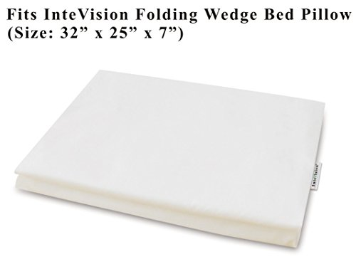 Cotton Wedges (InteVision 400 Thread Count, 100% Egyptian Cotton Pillowcase. Designed to Fit the InteVision Folding Wedge Bed Pillow (32