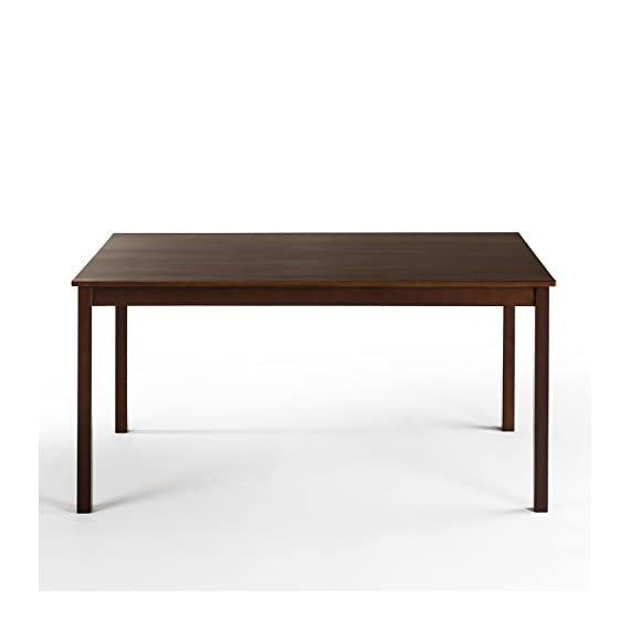 """Zinus Juliet Espresso Wood Large Dining Table / Table Only - Finished pine wood for Classic Charm Measures 60"""" x 36"""" x 29"""" Easily assembled in minutes - kitchen-dining-room-furniture, kitchen-dining-room, kitchen-dining-room-tables - 31kp%2BqBRo1L. SS570  -"""