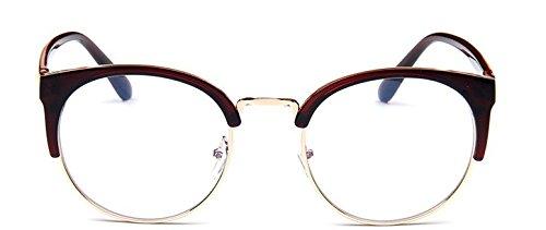 Embryform Vintage Version lunettes monture ronde cadre m¡§?tallique demi-cor¡§?enne de la tendance de simples sauvages cadre de miroir simple BvsqQVl1pN