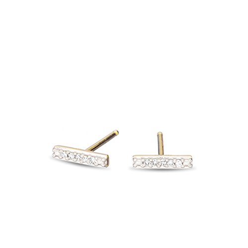 mond Bar Posts in 14k Yellow Gold (Adina Reyter : Jewelry Earrings)