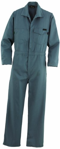 Workrite FR Flame Resistant 7 oz UltraSoft Work Coverall, Snap Wrist, 38 Chest Size, Long Length, Charcoal Gray