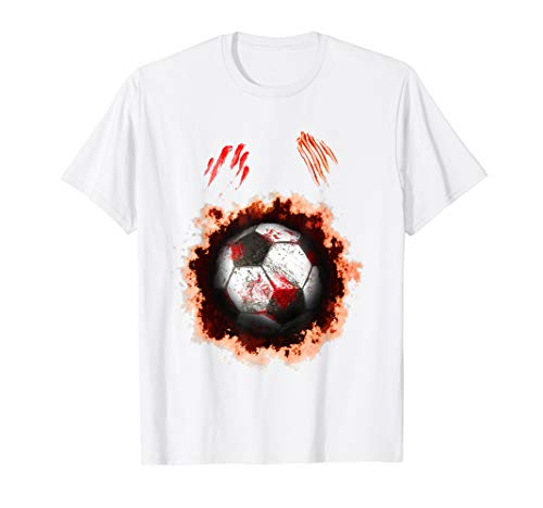 Halloween Zombie Soccer Player T-Shirt Soccer Ball lovers -