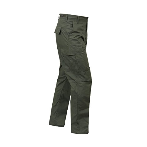 Rothco Rip-Stop BDU Cargo Pants, Olive Drab, (Ripstop Army Cargo Bdu Pants)