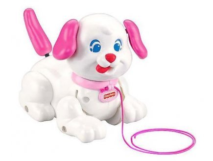 Fisher-Price Lil Snoopy Pink Dog Pull Puppy