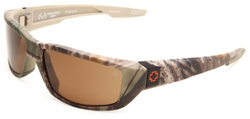 Spy Optic Dirty Mo 670937986074 Polarized Wrap Sunglasses,Spy Realtree Frame/Bronze Polarized Lens,One - Sunglasses Realtree Spy