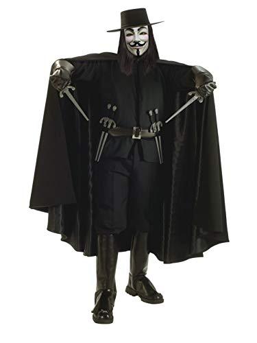 (Rubie's V for Vendetta Grand Heritage Collection Deluxe V Costume, Black,)