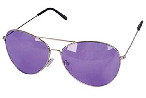 [Violet Purple Silver Frame Aviator Rock Star Glasses] (Rock Star Costumes For Boys)