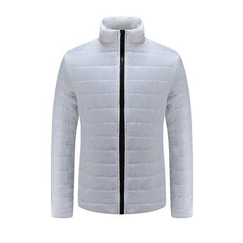 Realdo Mens Thick Coat Clearance Sale, Mens Warm Slim Fit Stand Collar Winter Outwear Jacket(3X-Large,White) for $<!--$8.89-->