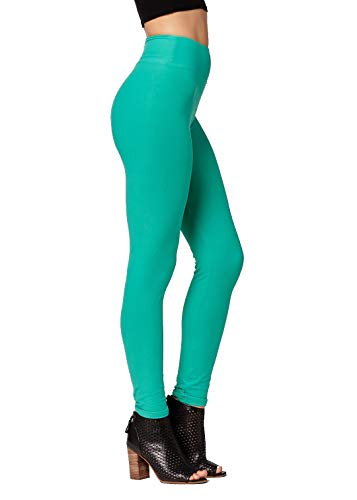 - Conceited Super Soft High Waisted Leggings for Women - Full Length Kelly Green - Small/Medium (0-10)