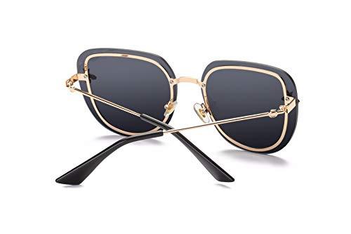 de Retro de D Hombre B Sol Sol Gafas de Personalidad polarizadas Mujer Gafas Intellectuality Ojos x8PYOqZ