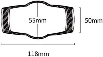 Demarkt Carbon Fiber Scheinwerferschalter Dekorativ Cover Sticker f/ür 3er E90 E92 E93 320i 325i 2005-2012