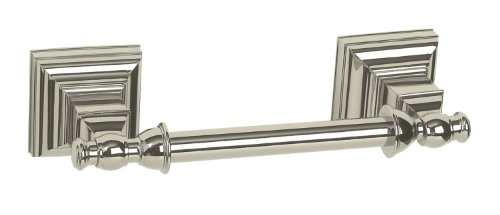 Amerock BH26517-PN Markham Collection Pivoting Double Post Tissue Roll Holder, Polished Nickel Finish
