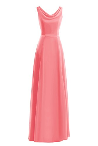 Dasior Long Gown Watermelon Evening Women's Party Prom Fornmal Dress 55qA6rw