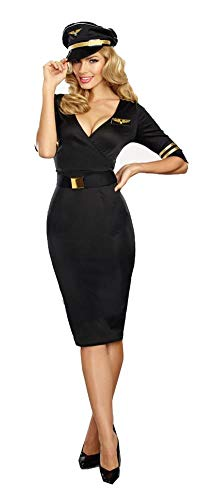 Dreamgirl Women's  Flight Captain, black, M ()