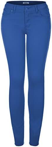 2LUV Women's Stretchy 5 Pocket Skinny Jeans