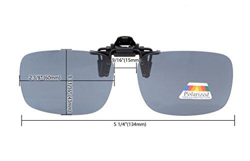 Flip Clip de sol Gafas 60x43 Polarizado up plata Pack 4 de metal MM de Clip gafas Eyekepper 4pcs dtqwXd