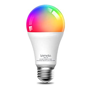 Lomota Smart Light Bulb Dimmable, Compatible with Alexa and Google Assistant, 2700K-6500K RGBCW, 810 Lumens 60W Equivalent, A19 E26 WiFi LED Light Bulb, No Hub Needed - 1 Pack