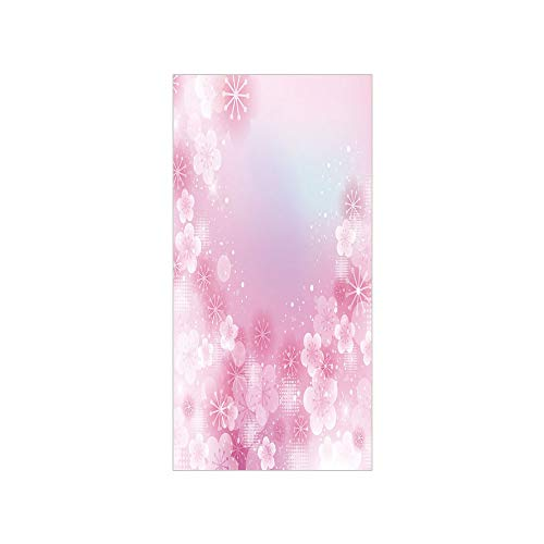 3D Decorative Film Privacy Window Film No Glue,Light Pink,Magical Hazy Asian Garden in Full Blossom Japanese Apricot Flowers Dots,Light Pink White,for Home&Office