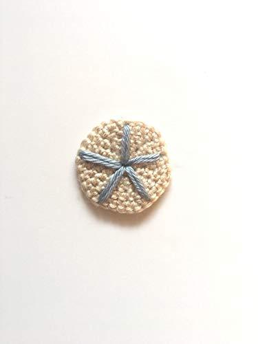 Crochet Sand Dollar Applique Craft Supply from Penguin Yarns