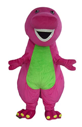 - ARISMASCOTS Cute Barney Mascot Costume for Adult Cartoon Character Mascot Costumes for Party