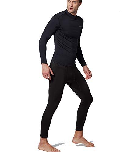 EXIO Mens Thermal Winter-Gear Compression Top Long-Sleeve Midweight Baselayer Underwear Shirt/Bottom