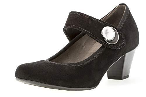 Black Gabor Womens Jane Nola Court Shoes Mary Suede RRw0qr