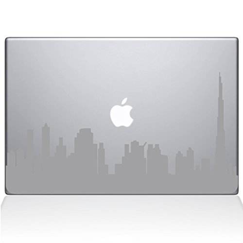 Dubai City Skyline Vinyl Decal Sticker Skin for Apple Retina Macbook Pro 15  inch Unibody Laptop in Silver