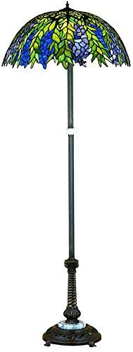 "Meyda Tiffany 31113 Tiffany Honey Locust Floor Lamp, 60"" H"