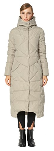 Orolay Women's Puffer Down Coat Winter Maxi Jacket with Hood Beige XS by Orolay (Image #6)