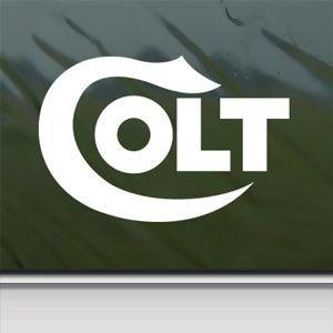 Colt Firearms White Sticker Decal Car Window Wall Macbook Notebook Laptop Sticker Decal