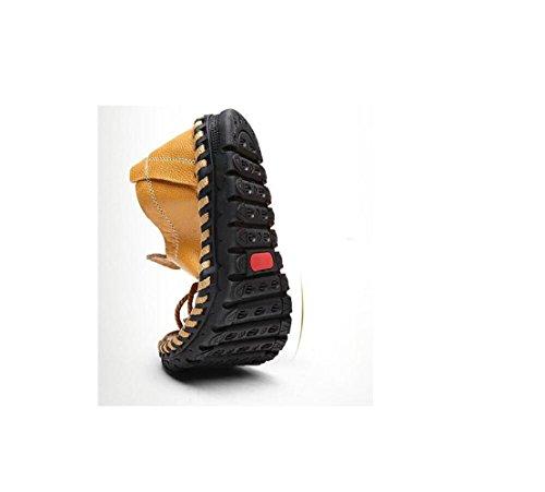 Cintura con Abiti Una con Piatto Cotone zmlsc Fondo da Brown da Punta Morbida Scarpe Indossano Indossano Uomo Fibbia Fibbia A Cerimonia con in pvPHqp