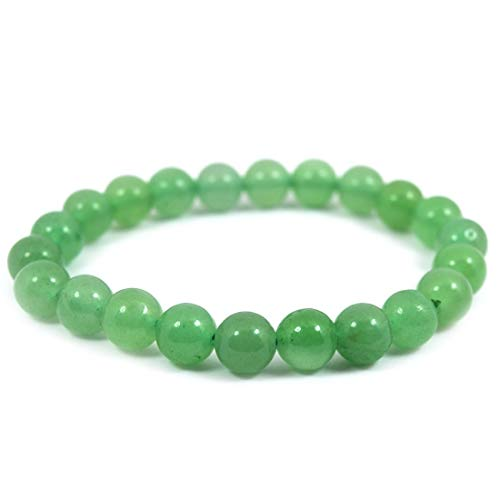 Reiki Crystal Products Natural Green Jade Bracelet 8mm for Reiki Healing and Vastu Correction Protection Concentration Spirituality and Increasing Creativity