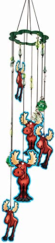 Spoontiques 11917 Moose Wind Chime, Green & Brown