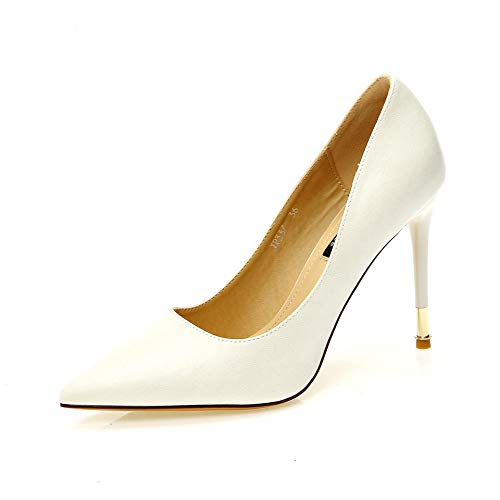 FLYRCX Einfache Mode zeigte High Heels Damen Elegantes Temperament mit einzelnen Schuhen