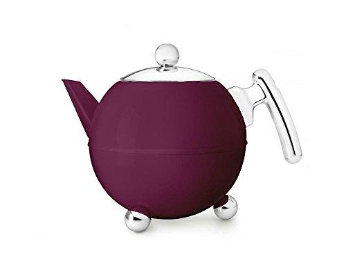 Bredemeijer 41 fl oz Teapot SS Burgundy BELLA RONDE by bredemeijer