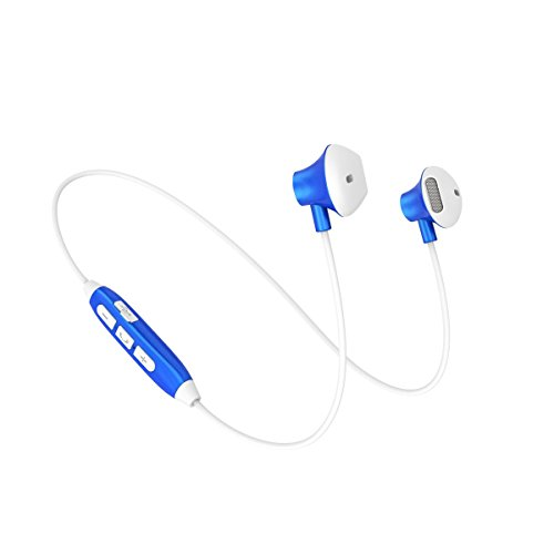 C-Xka Bluetooth Headphones, IPX4 Waterproof Wireless Sport Earphones, In-Ear HD HiFi Stereo Earphone with Mic (Color : Blue) by C-Xka