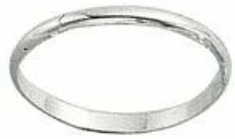 Sterling Silver 1.5mm Plain Band Size 2-10