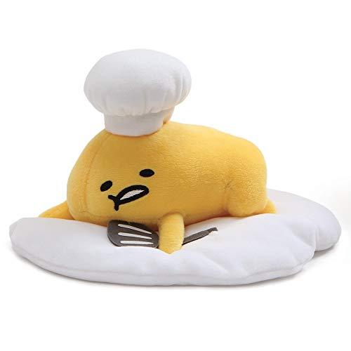 "GUND Gudetama ""Lazy Chef Egg with Hat and Spatula"" Stuffed Animal Plush, 7.5"""