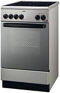 Zanussi - Cocina Conv. Zanussi Zcv560Mx, Vitroceramica,4 Fuegos, Inox, Horno Multifuncion Electrico, 85.8X50X60F: Amazon.es: Hogar