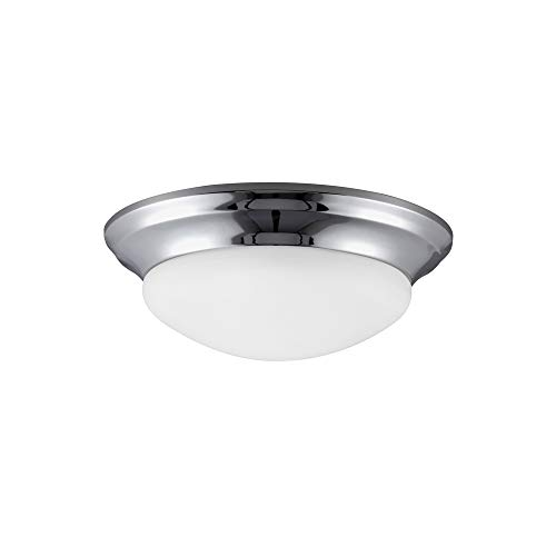 Seagull 75435-05 Two 75435-05-Two Light Ceiling Flush Mount, Chrome