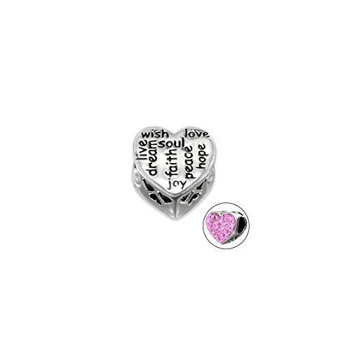 Amazon Heart Love Faith Soul Jeweled Beads 60 Sterling Silver Best Heart Touching Qua
