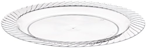 Opulence Heavyweight Plastic Plate, 7.5-Inch Diameter, Clear (240-Count) by WNA