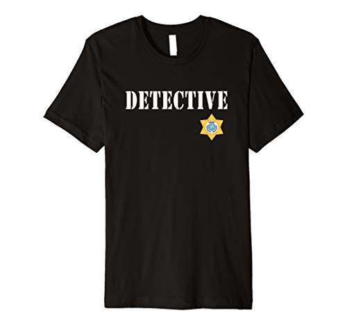 Detective Halloween Costume T-shirt with Police Badge