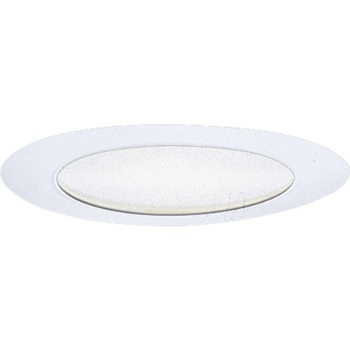 Progress Lighting P8020-28 Albalite Glass Metal Flange Insulation Must Be 3-Inch from Housing 7-3/4-Inch Outside Diameter, Bright White ()